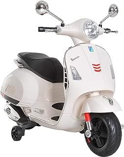 HOMCOM Moto Eléctrica Infantil Coche Triciclo para Niños 3-6 Años Carga 30kg Blanco