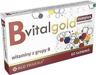Alg Pharma B VitalGold Complex Förpackning om 1 x 60 Tabletter - Komplex av B-Vitaminer - Folsyra - Biotin - Niacin - Tiam...
