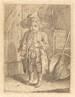 Fine Art Print - Daniel Nikolaus Chodowiecki - Poor Boy Showing His Navel 1758 - Vintage Wall Decor Poster Reproduction - 36in x 44in