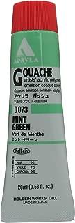 Holbein Acryla Gouache Artists Acrylic Polymer Emulsion, 20ml Mint Green (D073)