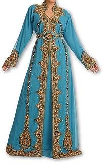 New Top Selling Bridal Wear Maghribi Kaftan Dress for Arabian Ladies 119