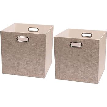Posprica Cajas de Almacenaje,Cestas de Almacenamiento Plegable,Contenedores de Almacenamient para Organización En El Cajón del Armario La Cómoda,33 x 33 x 33cm: Amazon.es: Hogar