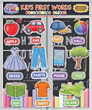 JesPlay Kids and Toddlers First Words Thick Gel Clings – Reusable Window Clings Stick to Most Surfaces - Incredible Gel Decals of Children's First Words and Spelling