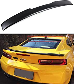 Cuztom Tuning Fits for 2016-17 Chevy Camaro LT RS Sport Primer Black Rear Window Roof Spoiler Wing