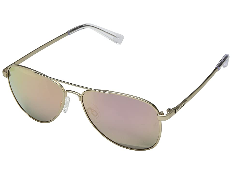 VonZipper Statey (Gold Satin/Rose Gold Chrome) Sport Sunglasses