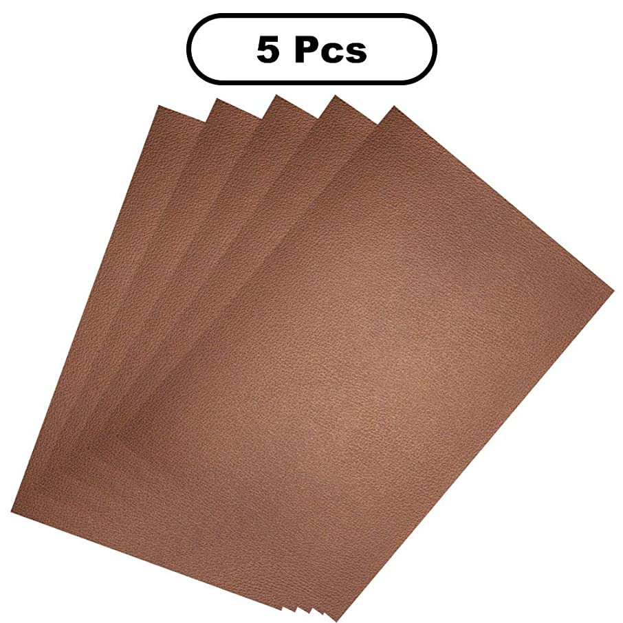 Creammuffin Faux Leather Art Paper - 5 Pieces of A4 Size to Make a Variety of handicrafts