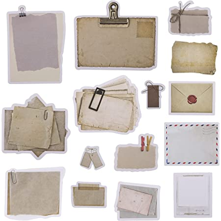 SAVITA 45 Pièces Papier Journal Vintage Matériel de Scrapbook Rétro Papier de Décoration de Journal pour Agenda Scrapbooking Bricolage Cahier Décor de Journal