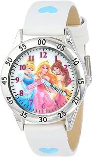 ساعة ديزني كيدز PN1172 برينسيس بسوار ابيض