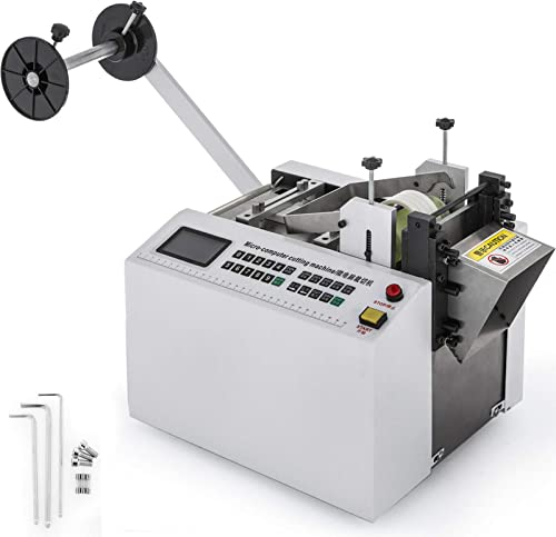 wholesale Mophorn Automatic Heat-Shrink Tube Cutting Machine 250W lowest YS100 Tube Cable Pipe Cutter Precise Efficient wholesale Tube Cable Pipe Cutter Cutting Machine for Sleeve, Rubber/Plastic Tube, Small Wire, Sheet, Film outlet online sale