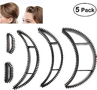 Tinksky Big Bumpits Happie Hair Volumizing Inserts Hair Pump Beauty Set Tool Gift,Pack of 5 (Black)