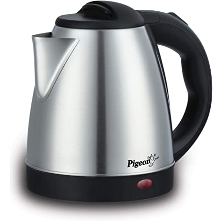 Pigeon Hot Electric Kettle (12466) 1.5 Litre Stainless Steel Kettle (Silver)