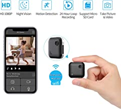 $39 » Mini WiFi-Spy Camera 1080P Wireless Hidden-Camera, OUCAM Small Surveillance Camera Spy Cam with Audio and Video Recording, Nanny Cam with Live Stream/Night Vision/Motion Activated (iOS/Android APP)