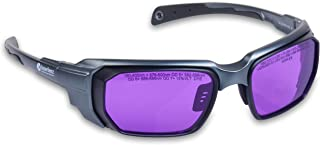 Lazerlenz Premium Laser Goggles 585-595 nm Pulsed Dye Medical Laser Safety Eyewear Wrap-Around Glasses for VBeam Perfecta for Medical Doctors and Laser Technicians