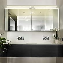 Lampara Espejo Baño Lámpara de Pared Espejo Cromado Armario 80cm/13W Blanco Cálido