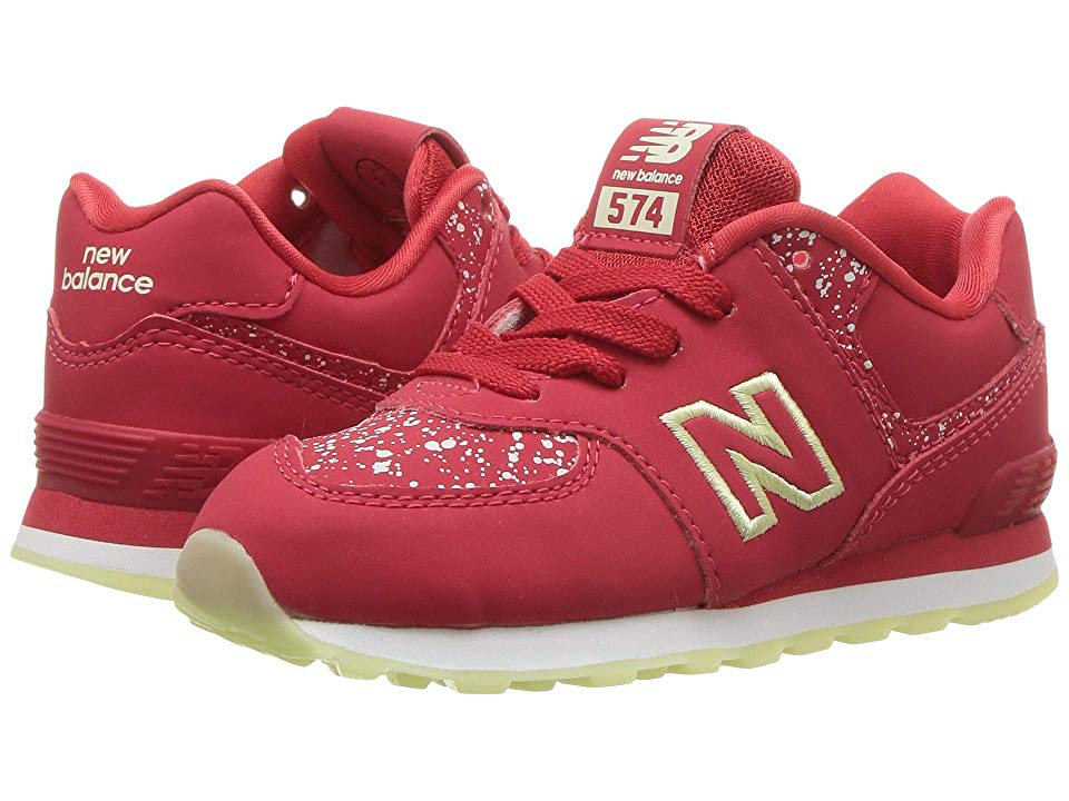 New Balance Kids IC574v1 (Infant/Toddler) (Red/Glow in the Dark) Boys Shoes