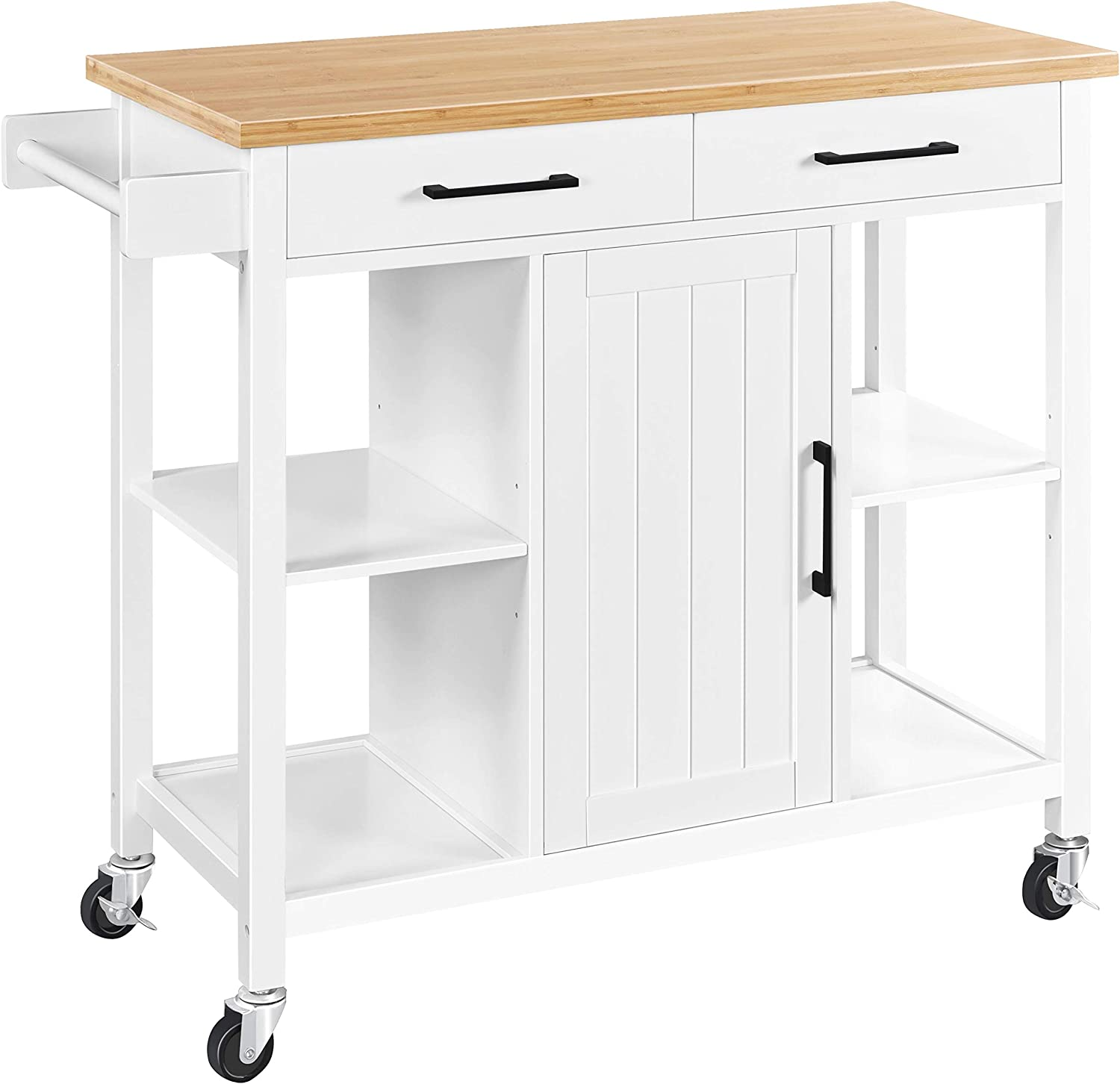 YAHEETECH Kitchen Cart Ranking TOP10 On Wheels with OFFicial store Cabi and 2 Storage Drawers