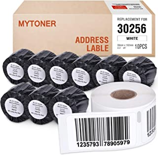 MYTONER 12-Rolls Shipping Labels Compatible DYMO 30256 Adhesive Large Postage Shipping Label 2-5/16inch × 4 inch (59mm x 101mm) for Dymo Labelwriter 450, 450 Turbo, 4XL & More -300 Labels per Roll