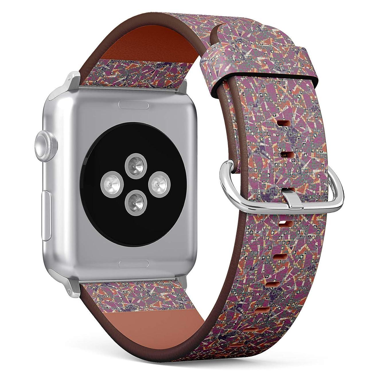 愚かな知性くるみコンパチブル Apple Watch iWatch 42mm & 44mm - 本革レザーストラップ, 向けのバンド交換ストラップです コンパチブル アップルウォッチ バンド (上位層からなる)
