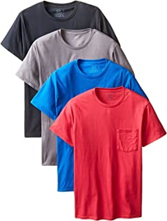 Fruit of the Loom Men's 4-Pack Pocket Crew-Neck T-Shirt - Colors May Vary