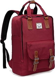 Backpack for Women,VASCHY Vintage 15in Laptop Backpack Water-Resistant School Backpack Burgundy