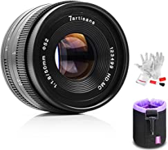 7artisans 50mm F1.8 APS-C Manual Fixed Lens for Fuji X Mount Mirrorless Cameras,Multi-Layer Coating,All Metal Body with Lens Bag, Pergear Cloth