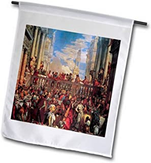 3dRose fl_130048_2 The Wedding Feast at Cana by Veronese Garden Flag, 18 by 27""