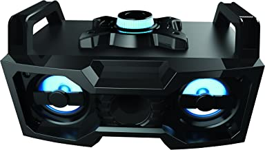 Sharper Image SBT3007BK Bluetooth Speaker With Lights, Wireless Multicolored DJ Boombox..
