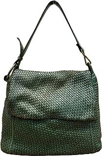 BZNA Bag Tarja grün Italy Designer Messenger Damen Handtasche Schultertasche Tasche Leder Shopper Neu