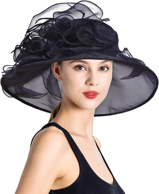Womens Fascinator Hats, Black Fascinator Hat, Ladies Kentucky Fascinator Hats