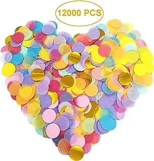 12000 Pieces Multicolor Round Paper Confetti - 1 Inch Tissue Confetti for Party Wedding Balloon Decorations