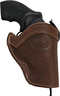 Barsony New Brown Leather Western Style Holster for Snub-Nose or 2