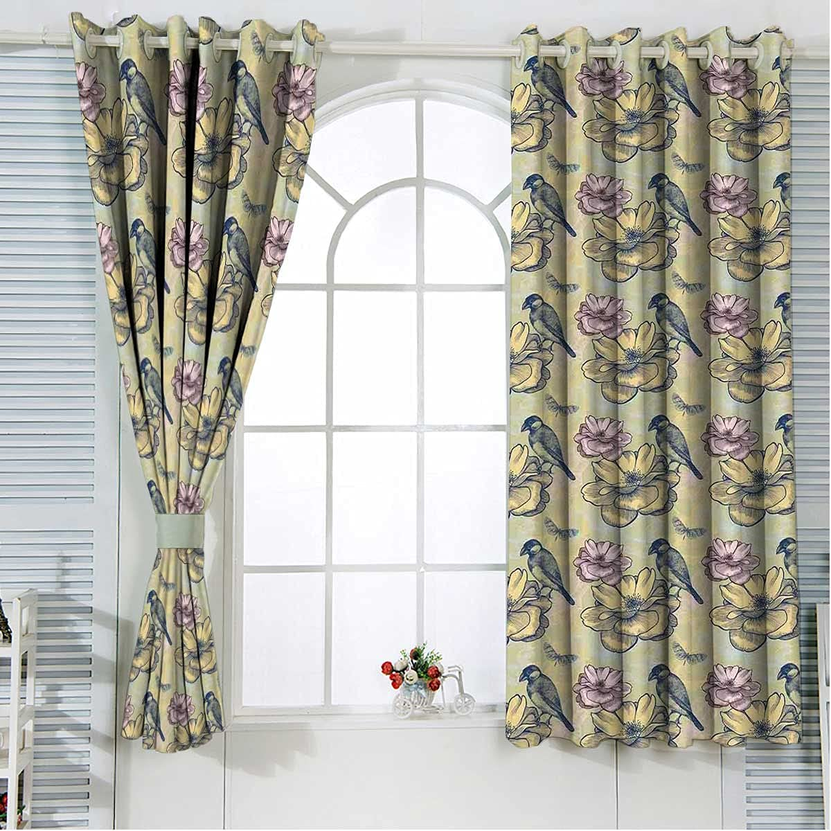 Spring Grommet Curtains 84 Inches Length Multicolor Cur Factory outlet Ranking TOP17 Kitchen