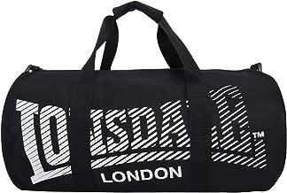 Lonsdale London Barrel Gym Bag 52cm 20Inch Black and White