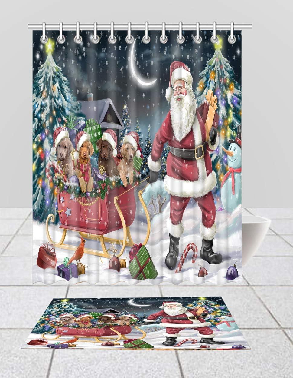 Santa Sled Dogs Christmas Happy Holidays Retrieve Chesapeake OFFer Free Shipping Cheap Bargain Gift Bay