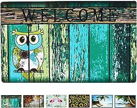 """Welcome Doormat Front Door Mat, Rubber Back Non Slip Door Mat Entrance Rug Shoe Scraper 17"""" x 29"""", Low-Profile Printing Ma..."""