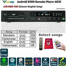 4TB HDD 70K Chinese DVD,English DVD,Vietnamese DVD Songs, Android Karaoke Player,Jukebox,Free Cloud Download,DVD Drvier,Microphone port, ECHO Mixer,Home KTV, Watch TV, KODI, YOUTUBÊ Songs Sing,