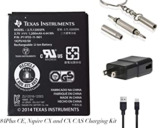 Battery and Charging Kit for TI 84 Plus CE - TI Nspire CX II TI Nspire CX CAS II - TI Nspire CX - TI Nspire - TI Nspire CAS, CX, CX CAS - TI 84 Plus C SE