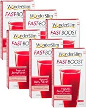 FAST BOOST Thermogenic Energy Boosting Powder Drink Mix by WonderSlim - Antioxidant Drink Mix - With Green Tea, Ginseng, Quercetin and Gingko Biloba – Natural Berry Flavor - 6 Boxes (Save 15%)