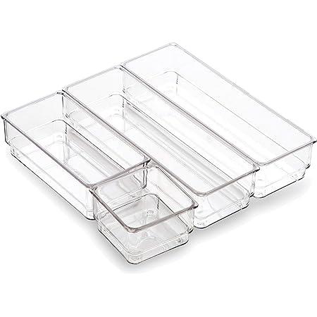 Evelots Interlocking Drawer Organizer Storage Bins-Office//Kitchen Dividers-Set//8