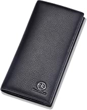 Mercedes Benz Long Wallet with 11 Credit Card Slots ID Holder - Genuine Leather