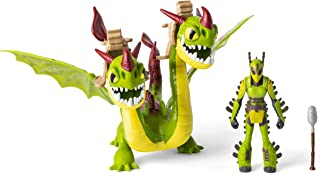Dreamworks Dragons, Ruffnut & Barf & Belch, Dragon with Armored Viking Figure, for Kids Aged 4 & Up