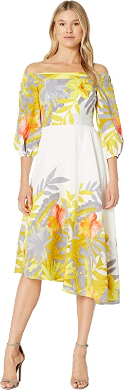 48e2f871f32 Ivory/Mustard Multi. 19. Donna Morgan. Off the Shoulder Floral Print Dress.  $138.00