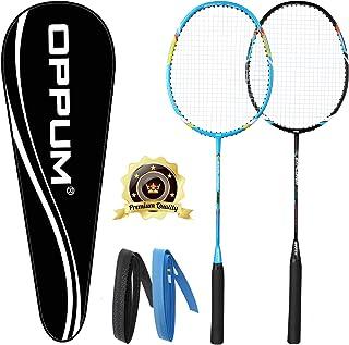 OPPUM Carbon Fiber Composite 2 Player Badminton Racket Integral Forming Structure Super Lightweight Offensive Badminton Ra...