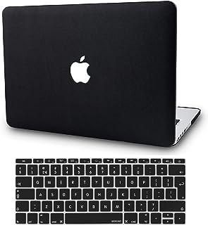 KECC MacBook Air 13 Pulgadas Funda Dura Case w/EU Cubierta Teclado MacBook Air 13.3 Ultra Delgado Cuero {A1466/A1369} (Cuero Negro)