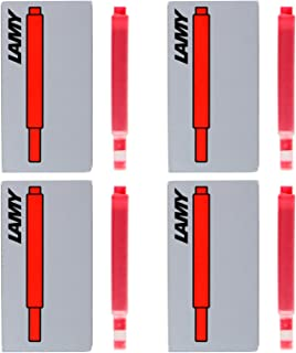 Lamy Fountain Pen Ink Cartridges, Red Ink, Pack of 20 (LT10RD)