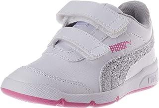 Puma Shoes for baby-girls, Puma White-Puma Silver-Sachet Pink, 28 EU