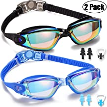 Yizerel Swim Goggles, 2 Pack Swimming Goggles for Adult Men Women Youth Kids Child, No..