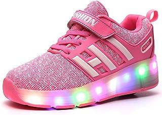 EVLYN LED Light up Shoes Kids Skates Shoes Sneakers Kids Wheel Roller Skate Shoes Boys Girls Kids Gift