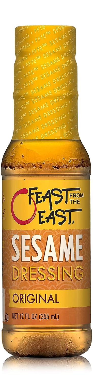 Feast From The East Sesame Dressing - Original - Gluten-Free - All-Natural - 12 Fl Oz