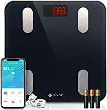 Etekcity Smart Body Fat Scale, Digital Bathroom Scales for Body Weight, BMI, and Weight Loss,Sync 13 Key Body Compositions with Other Fitness Apps,11.8 x 11.8 inches, Black